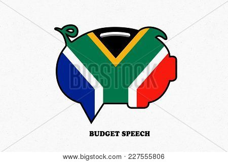 South Africa, 21 February 2018 - Illustration Idea For The South African Budget Speech.