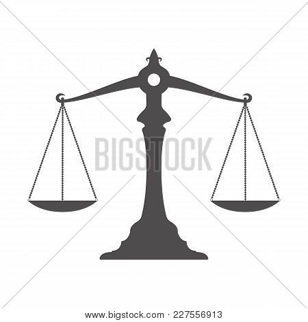 Scales Icon On A White Background. Stock Vector