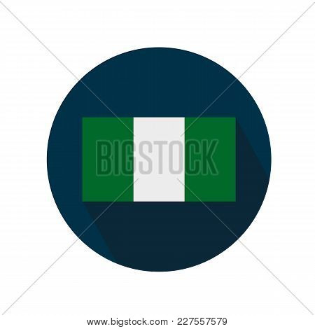 Flag Of Nigeria Icon Against White Background
