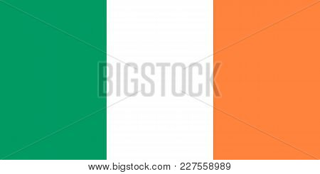 Flag Of Ireland Close Up Vector Illustration
