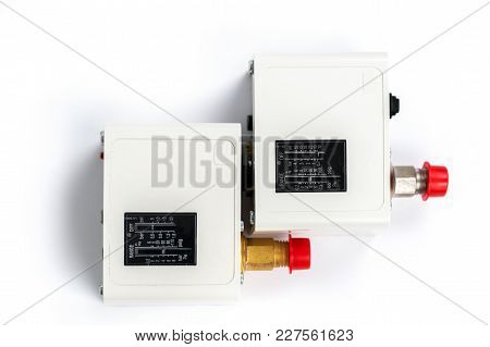 Two New Identical Pressure Switches In The Pipeline For Monitoring And Balancing The Pipeline Pressu