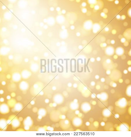 Abstract Background With Defocused Lights - Festive Bokeh Background. Vector