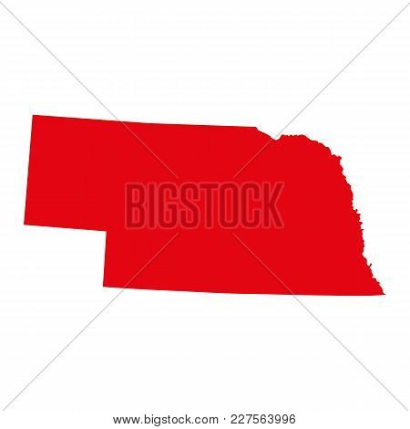 Map Of The U.s. State Of Nebraska