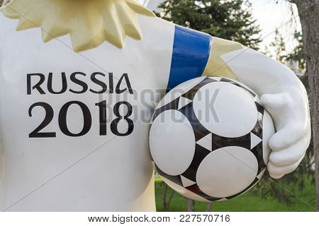 Rostov-on-don, Russia - December, 2017 The Official Mascot Of The 2018 Fifa World Cup And The Fifa C