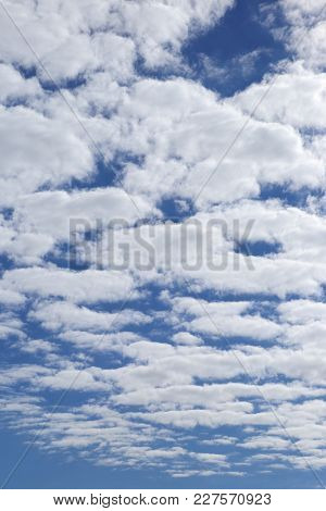 Sky With Clouds. Cloudy Landscape With Perspective Effect.