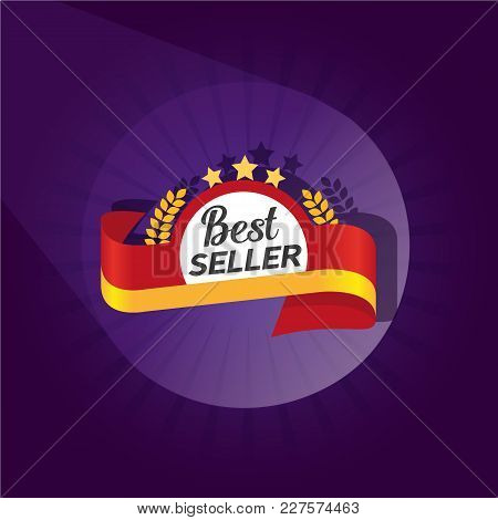 Best Seller Badge Icon Concept. Colorful 3d Sign Style. Business Sticker Idea. Emblem Template. Roun