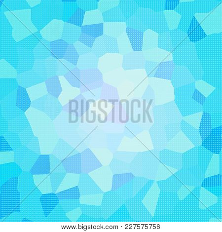 Blue Mosaic Dotted Background. Vector Modern Background For Posters, Brochures, Sites, Web, Cards, I