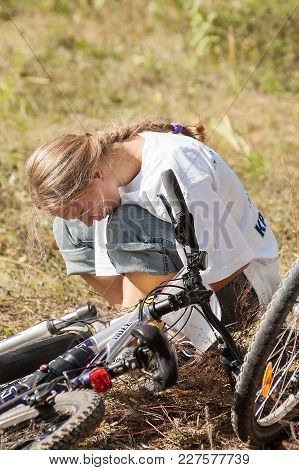 Vinzili, Russia - September 4, 2005: Velodanger Competition In Territory Of Unfinished Psychiatric H