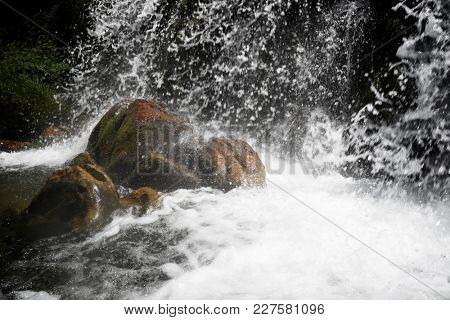 Waterfall in Otal Valley, Pyrenees, Spain.