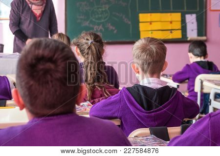 School Children Are Participating Actively In Class. Education.
