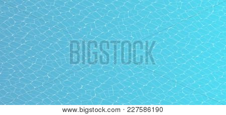 Vector Caustic Of Pool Water Seamless Texture. Swimming Pool Underwater Seamless Caustic Illustratio