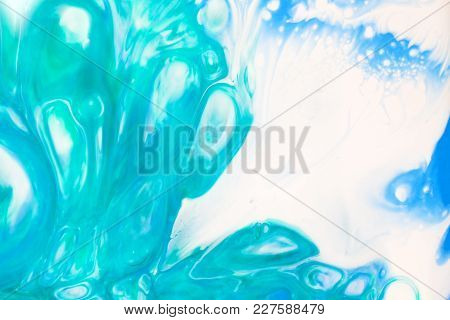 Beautiful Green And Blue Abstract Background On The White