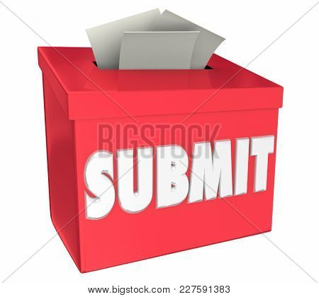 Submit Ideas Apply Here Submission Box 3d Illustration