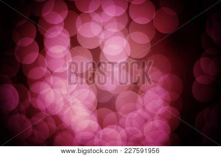 Bright Christmas Eve Background. Plenty Of Golden Sparkling Bokeh From Defocused Garland Lights. Bac