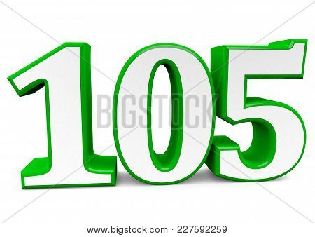 A Big Green Number For Happy Birthday
