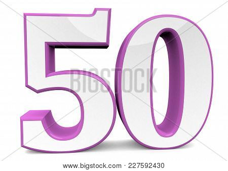 Big Number In Pink For Happy Birthday