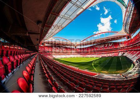 Lisbon, Portugal - February 10: Sport Lisboa E Benfica, A Premier League Portuguese Sports Club Base