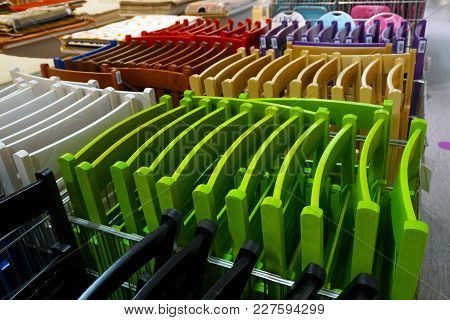 Colored Folding Textured Chairs In Store A