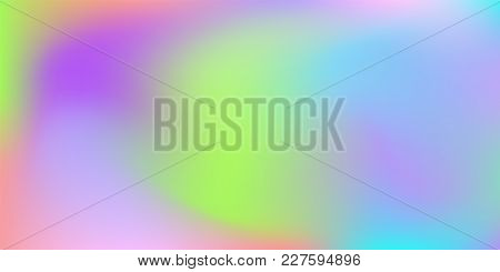 Blurred Bright Colors Mesh Background.  Trendy Creative Vector Cosmic Gradient.  Smooth Blend Banner