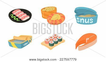Fish Food Icon Set. Cartoon Set Of Fish Food Vector Icons For Web Design Isolated On White Backgroun