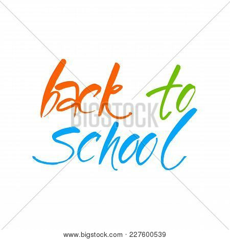 Back To School, Sale Retro Style Elements. Graphic Design For Poster, Advertising.  Vector Illustrat