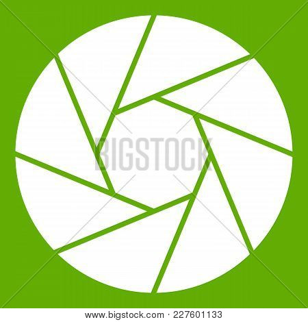 Little Objective Icon White Isolated On Green Background. Vector Illustration