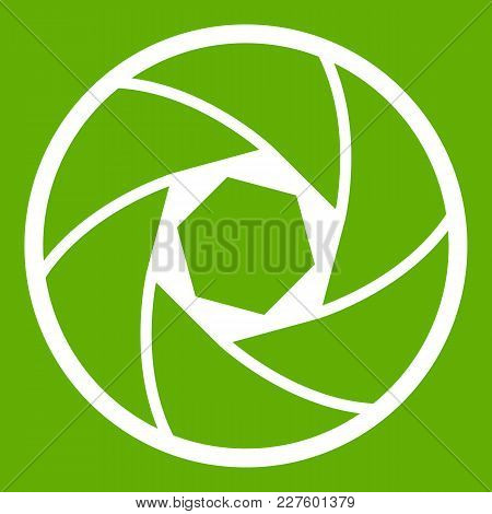 Professional Objective Icon White Isolated On Green Background. Vector Illustration
