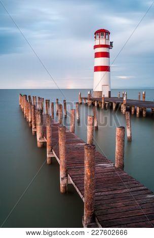 Lighthouse In Podersdorf At Neusiedl Lake, Austria