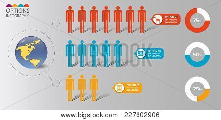 Vector Illustration Infographics Set. Template For Brochure, Business, Web Design.