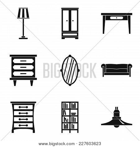 Household Work Icons Set. Simple Set Of 9 Household Work Vector Icons For Web Isolated On White Back
