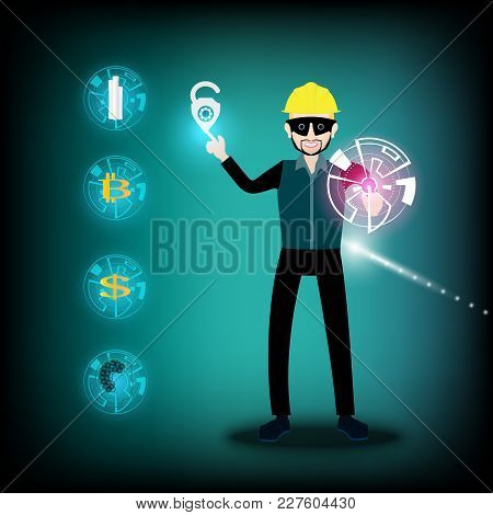 Spy Wearing A Safety Helmets Yellow Color And Tap On The Unlock Symbol.