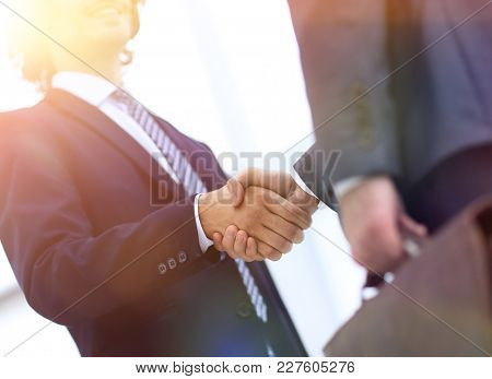 Businessmen in a suit with briefcases
