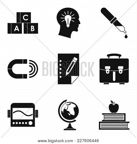Scholarly Icons Set. Simple Set Of 9 Scholarly Vector Icons For Web Isolated On White Background