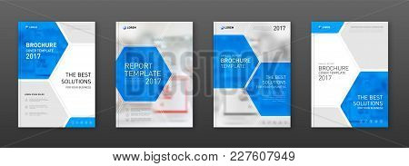 Medical Brochure Cover Templates Set. Applicable For Annual Report, Catalog, Leaflet, Flyer Or Poste