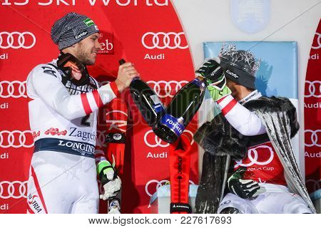 Audi Fis World Cup Mens Slalom Award Ceremony