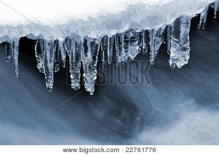 winter creek in the national park Sumava - Czech Republic