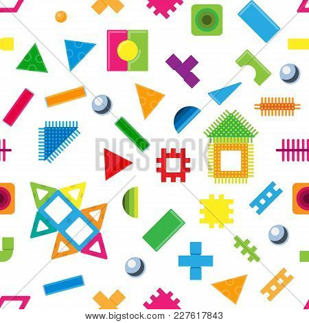 Kids Building Blocks Toy Vector Baby Colorful Bricks To Build Or Construct Cute Color Construction I