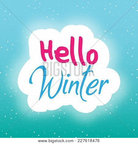 Winter Cute Background Say Hello Vector Image
