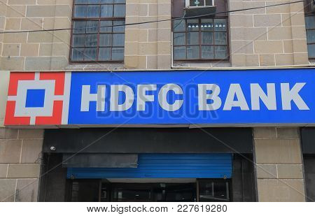 Mumbai India - October 11, 2017: Hdfc Bank India. Hdfc Bank Is Indias Largest Private Sector Lender