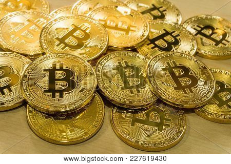 Physical Bitcoin Pile Background , Bitcoin Mining