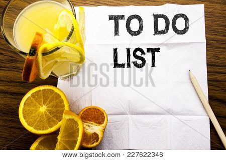 Conceptual Text Caption Showing To Do List. Concept For Plan Lists Remider Written On Tissue Paper O