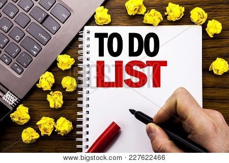 Conceptual Hand Writing Text Caption To Do List. Business Concept For Plan Lists Remider Written On