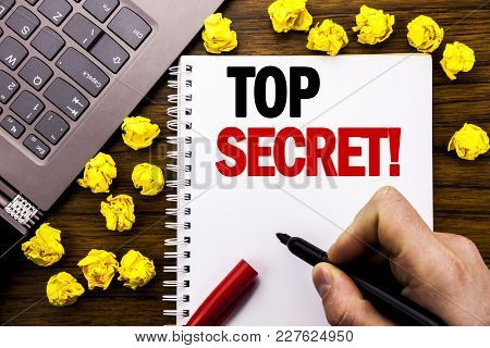 Conceptual Hand Writing Text Caption Top Secret. Business Concept For Military Top Secret Written On