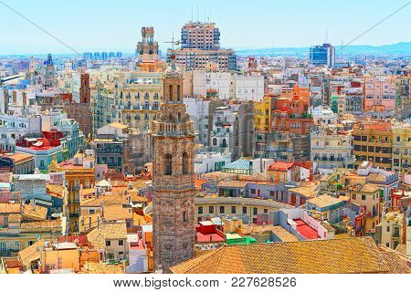 Panoramic View  Of Valencia, Is The Capital Of The Autonomous Co