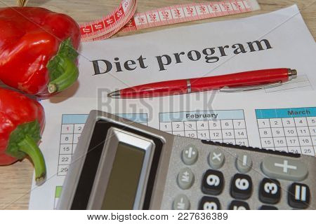 Concept Of Weight Loss. Healthy Lifestyle Diet With Fresh Fruits. Diet Concept, Fruit Dieting. Low-c