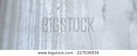 The Texture Of A Misted Glass With A Lot Of Drops And Condensation Flows. Background Image