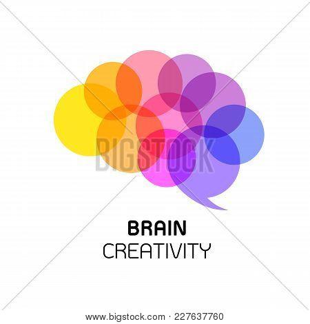 Creative Thinking. Brain Idea Isolated On White Background.