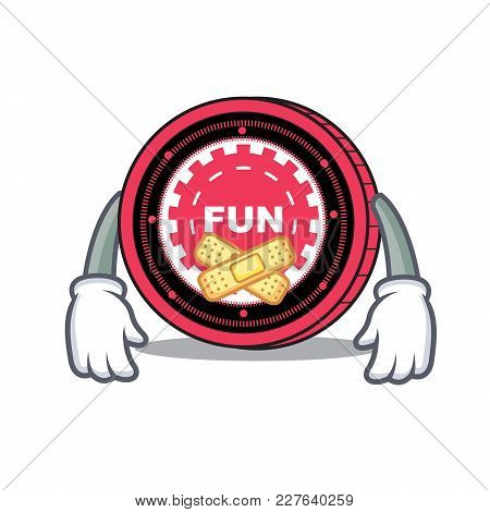 Silent Funfair Coin Mascot Cartoon Vector Illustration
