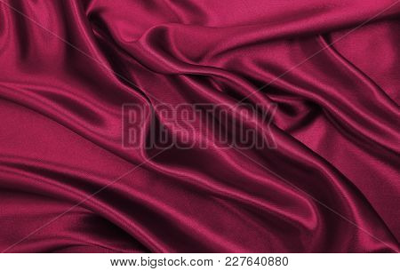 Smooth Elegant Pink Silk Or Satin Luxury Cloth Texture As Abstract Background. Luxurious Valentines