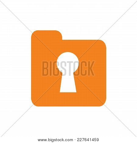 Document, File, Attachment, Folder, Secure, Keyhole, Security, Icon, Logo Element. Available In Edit
